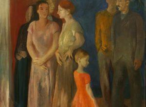 István Szőnyi, Villagers (Conversation), 1932. Oil on canvas. Courtesy of Dr. Richard Merkin.