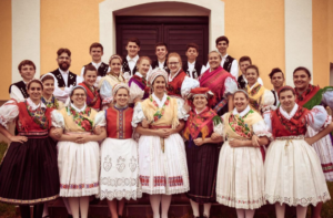 Members of the Ensemble in full costume.
