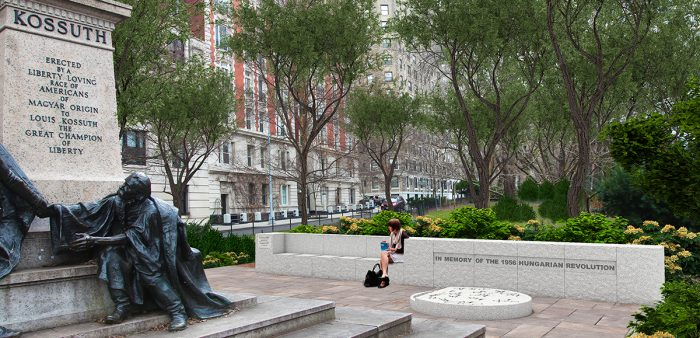 Rendering of the 1956 Memorial at Kossuth Plaza (Riverside Drive at West 113th Street)