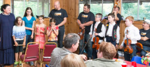Young musicians at Ti Ti Tabor