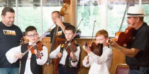 Ti Ti Tabor's young violin students