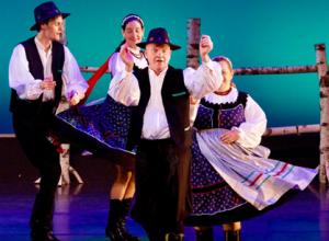 Dancers performing the Hungarian Folk Dance