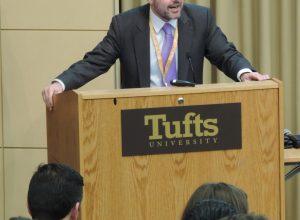 Speaking at Tufts University