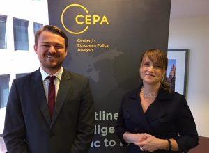 Krisztián Jójárt with CEPA CFO&COO Ilona Teleki