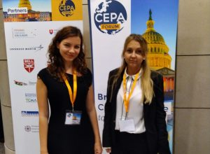 CIP interns Nagy Nikolett and Annamária Kránicz at the CEPA Forum
