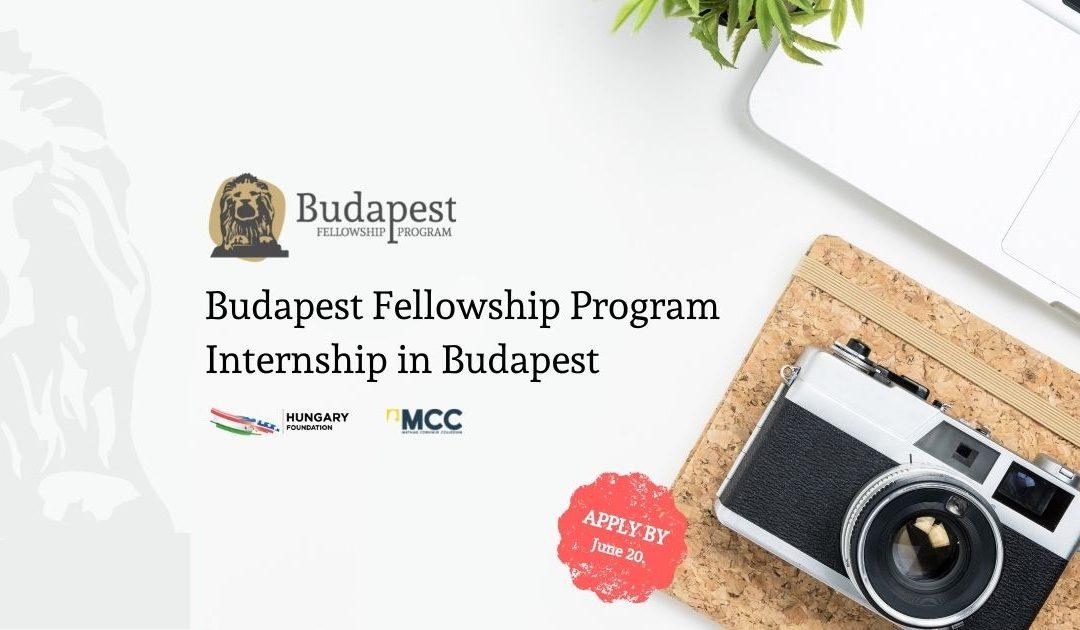 2021 Budapest Fellowship Program Internship